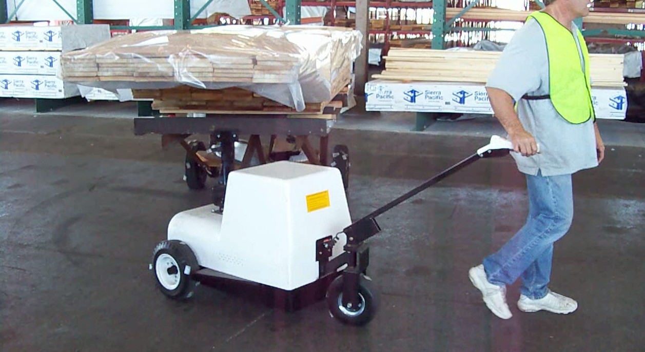 Lumber Cart Mule motorized battery operated mover.