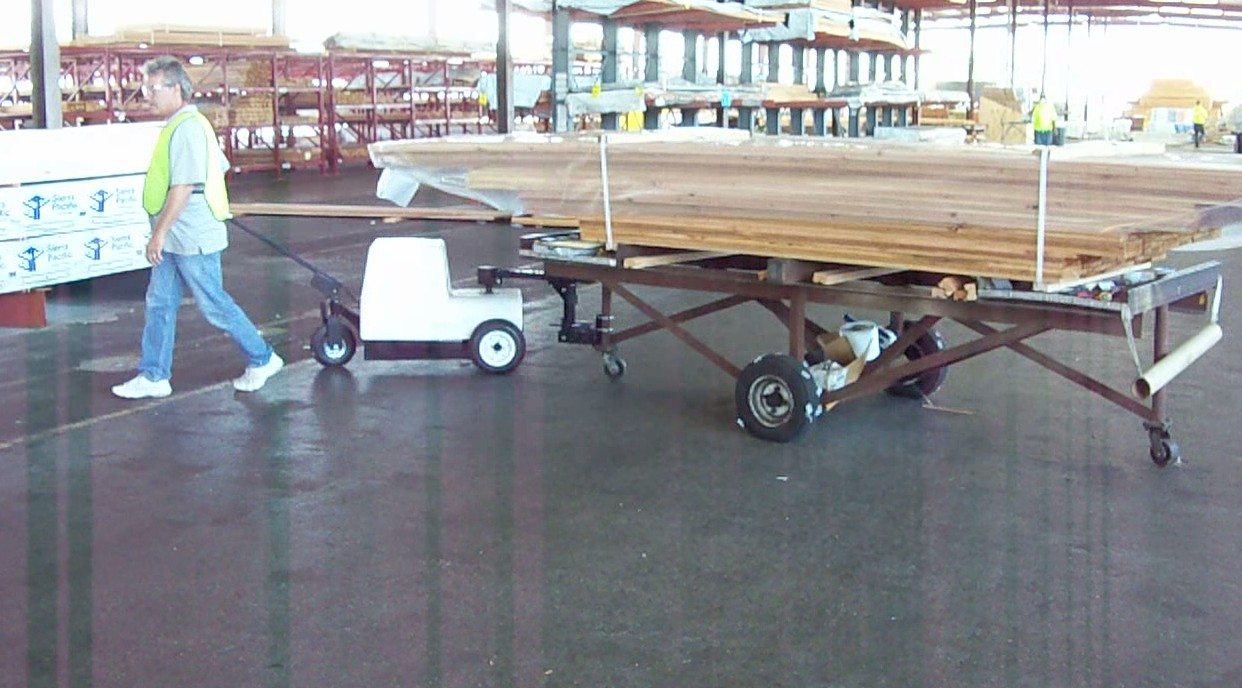 The Cart Mule lumber cart mover adds maneuverability to moving.