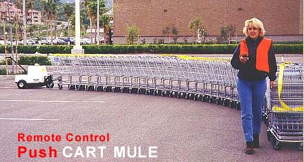 Cart Mule push Remote moving carts since 1994.