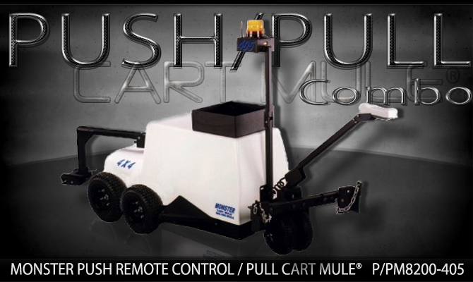 Monster PUSH REMOTE PULL CART MULE CART MOVER p.pcm8200-405-NAME